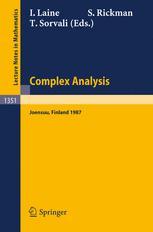 Complex Analysis Joensuu 1987