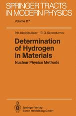 Determination of Hydrogen in Materials Nuclear Physics Methods