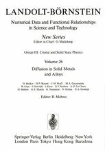 Diffusion in Solid Metals and Alloys
