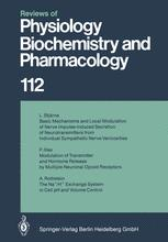 Reviews of Physiology, Biochemistry and Pharmacology, Volume 112