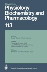 Reviews of Physiology, Biochemistry and Pharmacology, Volume 113