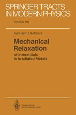 Mechanical Relaxation of interstitials in Irradiated Metals