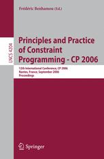 Principles and Practice of Constraint Programming - CP 2006