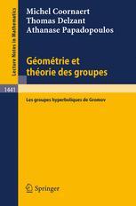 Géométrie et théorie des groupes