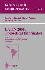 LATIN 2000: Theoretical Informatics
