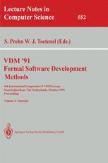 VDM '91 Formal Software Development Methods
