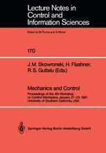 Mechanics and Control