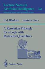 A Resolution Principle for a Logic with Restricted Quantifiers
