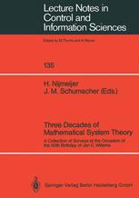 Three Decades of Mathematical System Theory