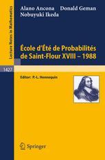 École d'Été de Probabilités de Saint-Flour XVIII - 1988
