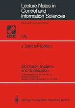 Stochastic Systems and Optimization