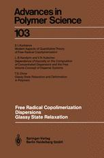 Free Radical Copolimerization Dispersions Glassy State Relaxation