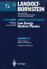Tables of Neutron Resonance Parameters