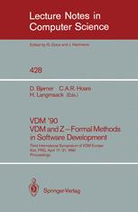 VDM '90 VDM and Z — Formal Methods in Software Development
