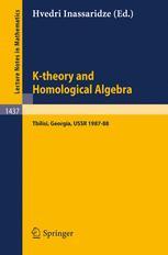 K-theory and Homological Algebra