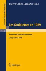 Les Ondelettes en 1989