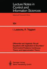 Differential and Algebraic Riccati Equations with Application to Boundary/Point Control Problems: Continuous Theory and Approximation Theory