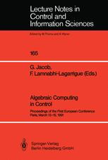 Algebraic Computing in Control