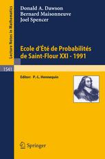 Ecole d'Eté de Probabilités de Saint-Flour XXI - 1991