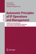 Autonomic Principles of IP Operations and Management