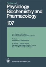 Reviews of Physiology, Biochemistry and Pharmacology, Volume 107