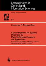 Control Problems for Systems Described by Partial Differential Equations and Applications
