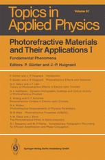 Photorefractive Materials and Their Applications I