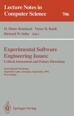 Experimental Software Engineering Issues: Critical Assessment and Future Directions