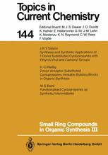 Small ring compounds in organic synthesis III
