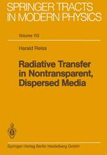 Radiative Transfer in Nontransparent, Dispersed Media
