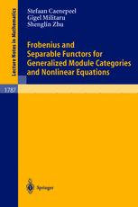 Frobenius and Separable Functors for Generalized Module Categories and Nonlinear Equations