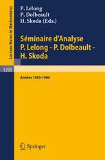 Séminaire d'Analyse P. Lelong — P. Dolbeault — H. Skoda