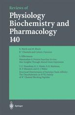 Reviews of Physiology, Biochemistry and Pharmacology, Volume 140