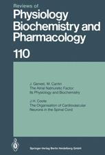 Reviews of Physiology, Biochemistry and Pharmacology, Volume 110