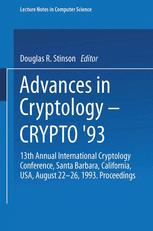 Advances in Cryptology — CRYPTO' 93