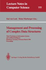 Management and Processing of Complex Data Structures