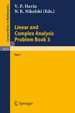 Linear and Complex Analysis Problem Book 3