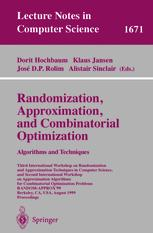 Randomization, Approximation, and Combinatorial Optimization. Algorithms and Techniques