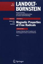 Inorganic Radicals, Metal Complexes and Nonconjugated Carbon Centered Radicals. Part 1
