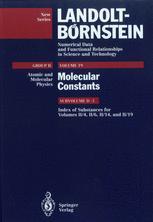 Index of Substances for Volumes II/4, II/6, II/14, and II/19