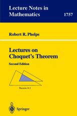 Lectures on Choquet's Theorem