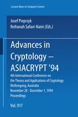 Advances in Cryptology — ASIACRYPT'94