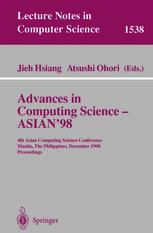 Advances in Computing Science ASIAN 98
