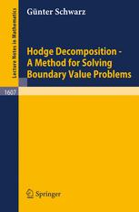 Hodge Decomposition—A Method for Solving Boundary Value Problems