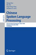 Chinese Spoken Language Processing