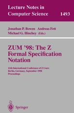 ZUM '98: The Z Formal Specification Notation