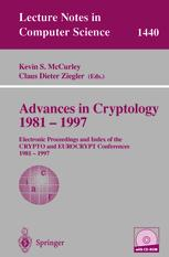 Advances in Cryptology 1981 – 1997