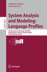 System Analysis and Modeling: Language Profiles
