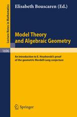 Model Theory and Algebraic Geometry
