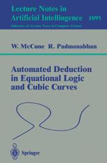 Automated Deduction in Equational Logic and Cubic Curves